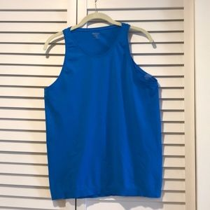 Blue tank top from Athleta